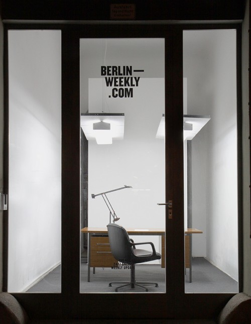 Office by Clemence Seilles Office is the modern world we know, made of artificial, and recomposed industrial materials. A standard of furniture and objects very much familiar to us, more than normal, a dismal uninspiring set . As much as it is well defined is its typology (office-space), the human activity to be accomplished stays abstract and obscure to us. Office is a prologue to the next week installation, Post-office, an inspired proposition of an active environment, build from the scraps of the Modern world.